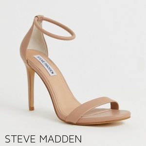 NWOT Steve Madden Strappy Heel Sandals in Nude